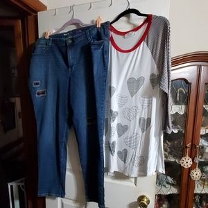 Janette Plus/Style & Company Denim Outfit